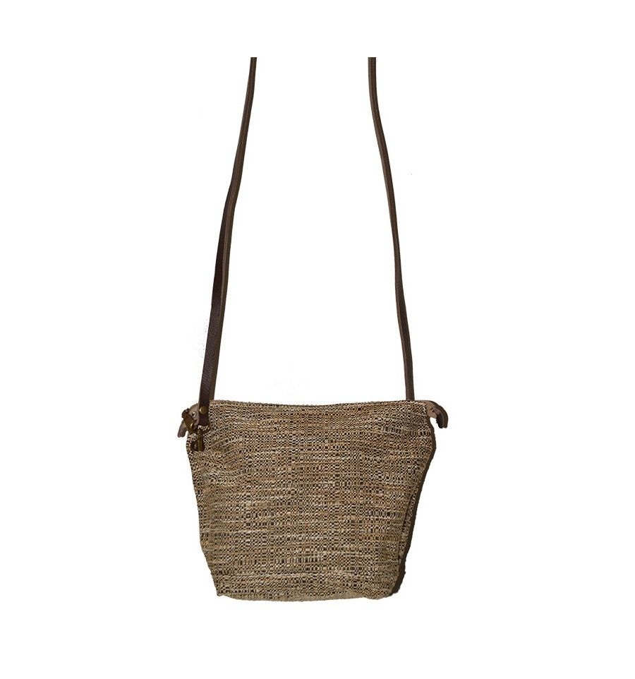 Bolso tweed beige y piel marrón. Loading zoom 577cda698d47