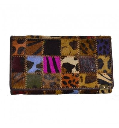Monedero pelo Animal Print mosaico