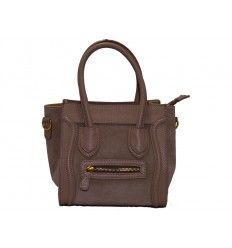 Bolso de piel estilo Celine Boston Pocket taupe