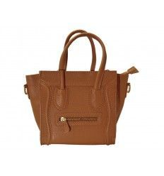 Bolso de piel estilo Celine Boston Pocket camel