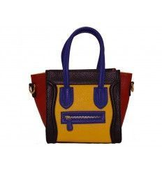 Bolso de piel estilo Celine Boston Pocket multicolor