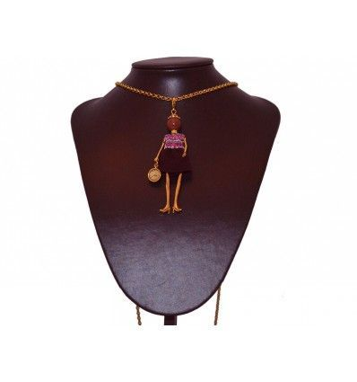 "Collar ""Fashion Doll"" terciopelo morado"