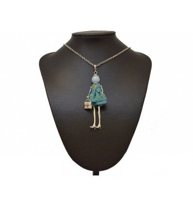 "Collar ""Fashion Doll"" lentejuelas azul"