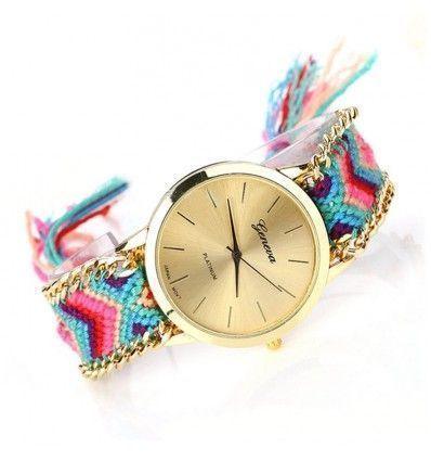 Reloj de pulsera hilo Friendship multicolor